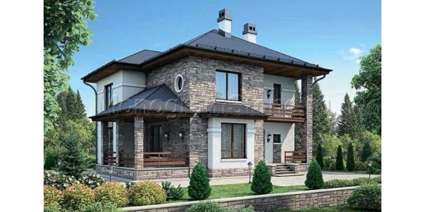 Фасад частного дома в английском стиле