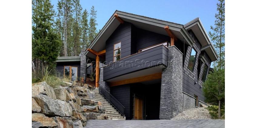 Фасад в стиле лофт