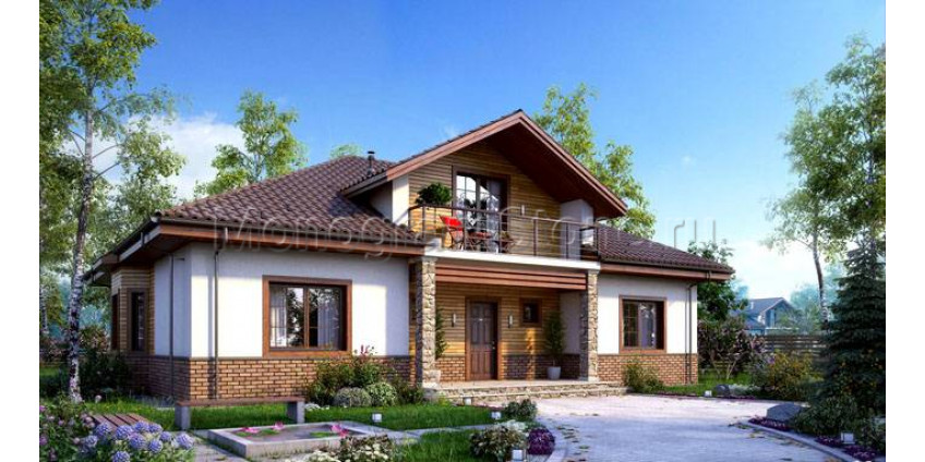 Красивые дома с мансардой
